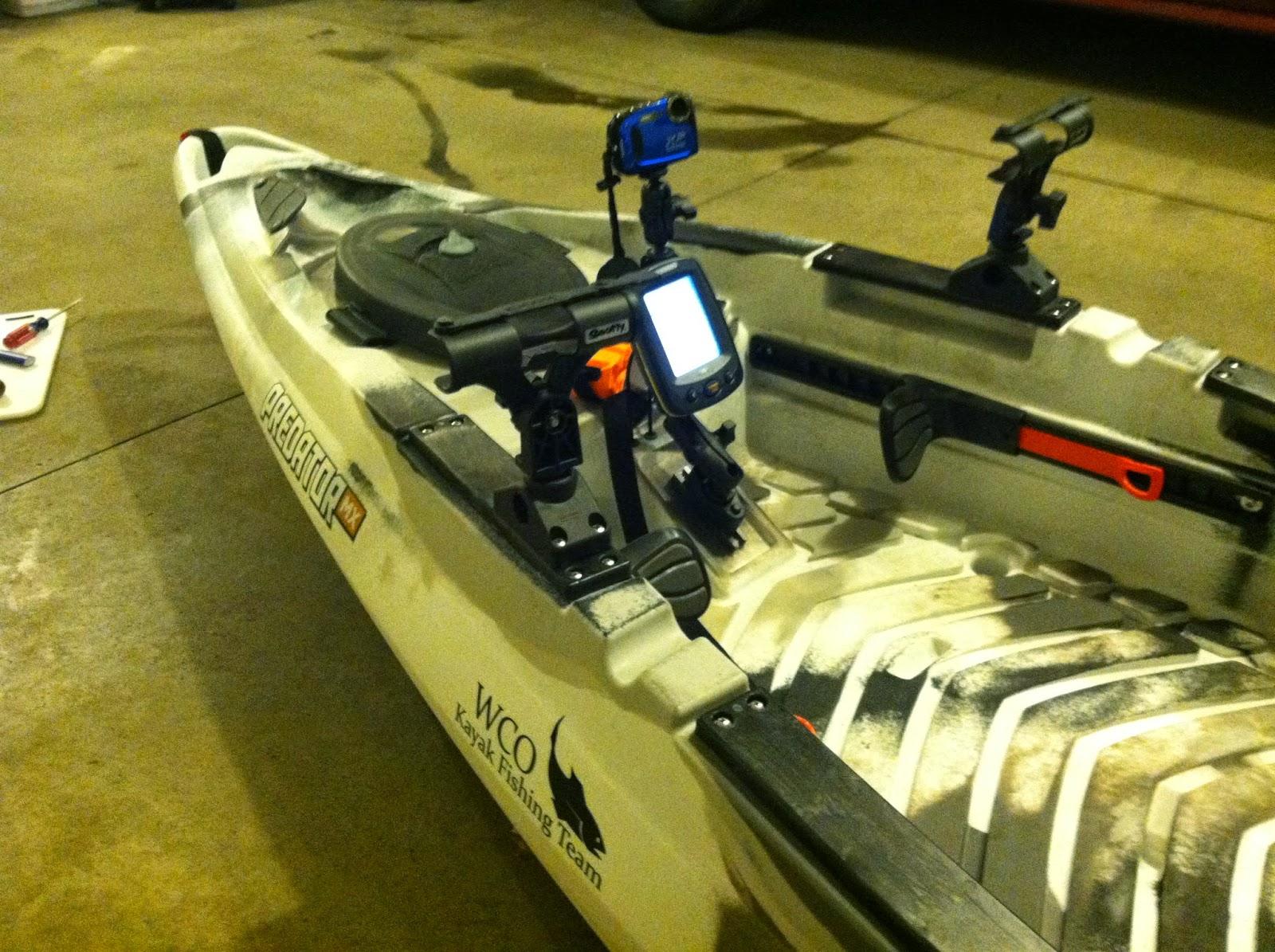 Indiana kayak fishing journal my kayaks for Fishing rod setup