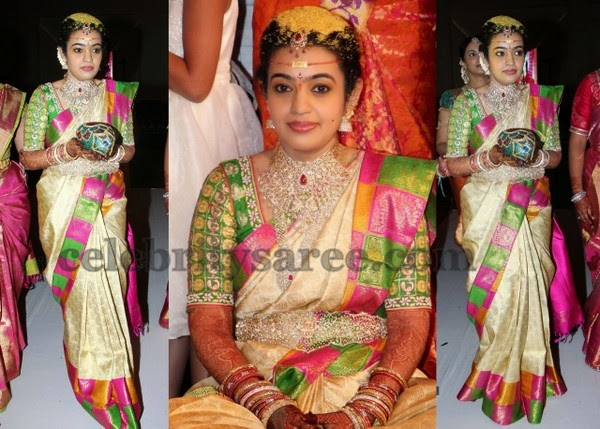 Mohana Rupa Cream Wedding Saree