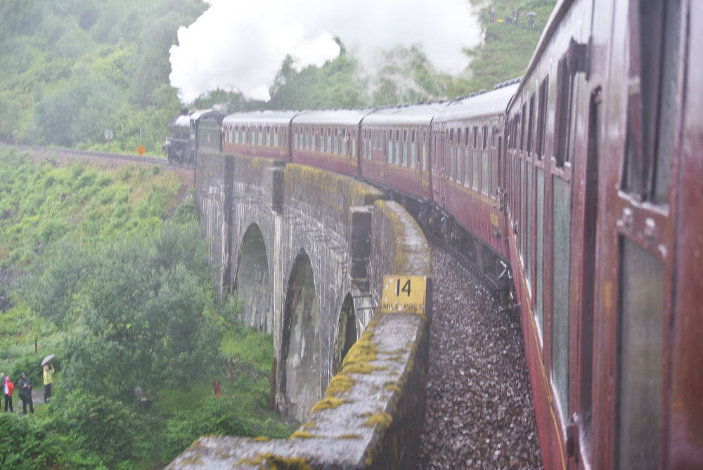 The Jacobite Train on the Glenfinnan Viaduct
