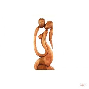 Abstrakte Holzfigur Modell Erster Kuss 60 Cm Skulptur
