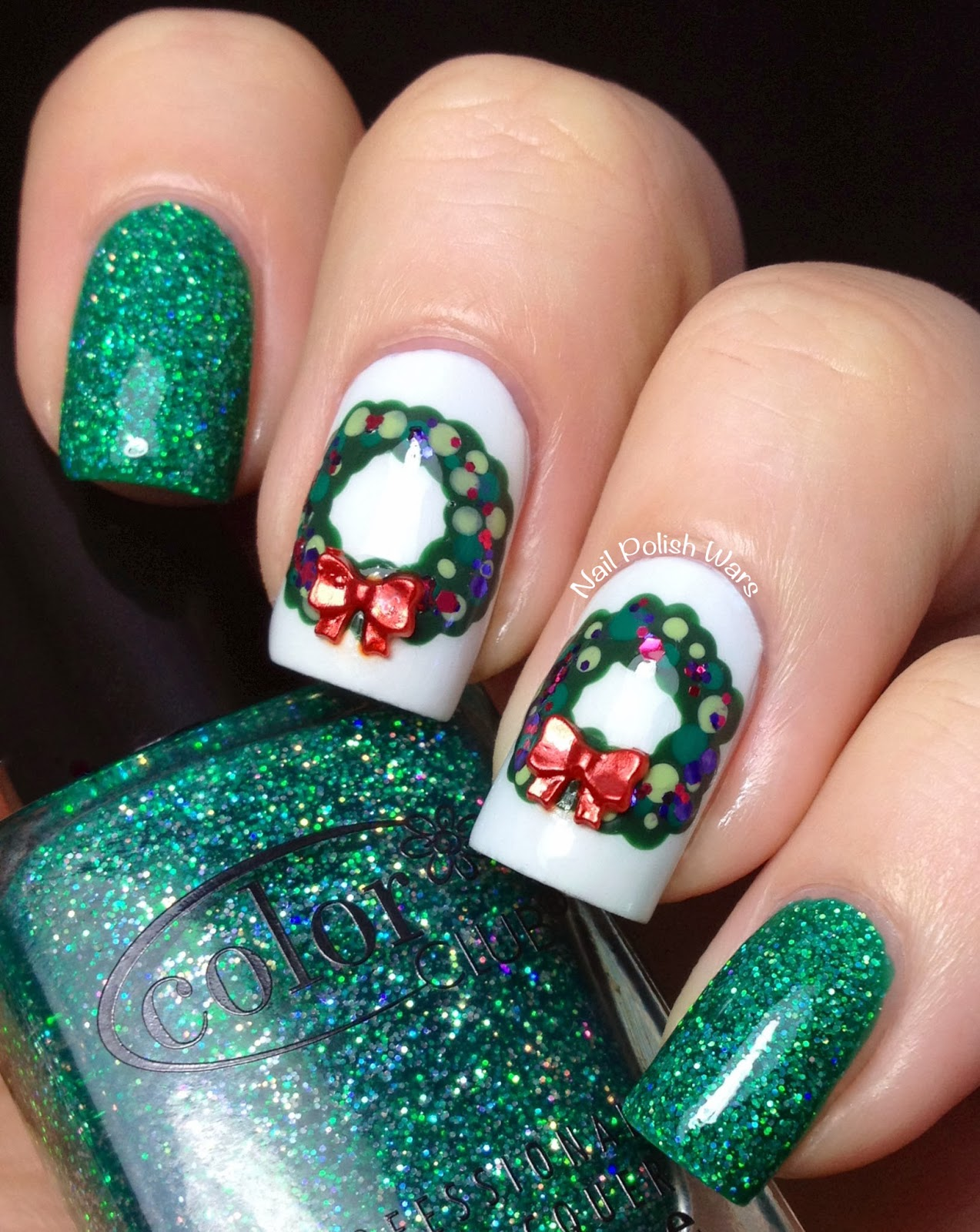 Nail polish wars if you like it then you should have put a wreath thursday december 19 2013 prinsesfo Image collections