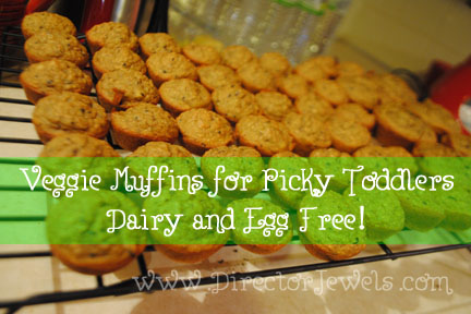 Dairy Free Fruit Veggie Muffin Recipe For Picky Toddlers