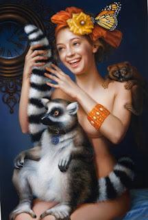 Mujeres Con Animales Cuadros