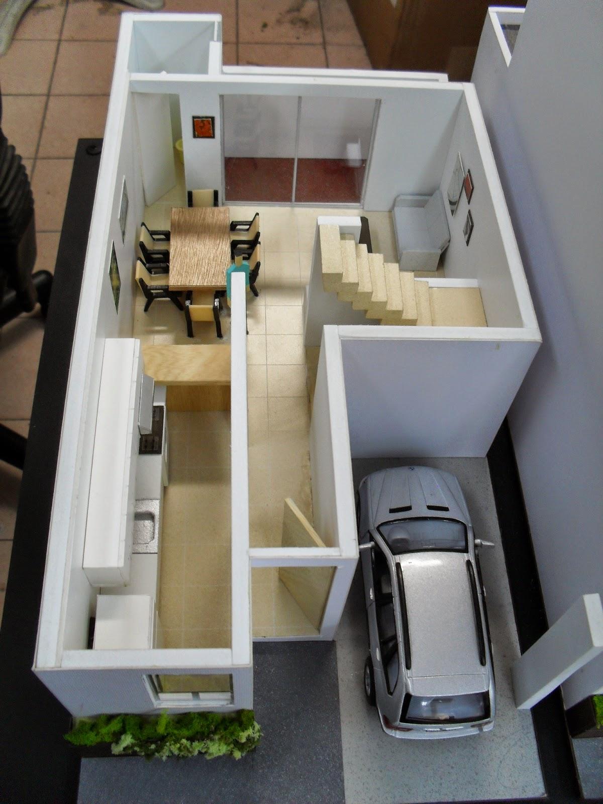 Maqueta de casa habitacion for Hacer casas