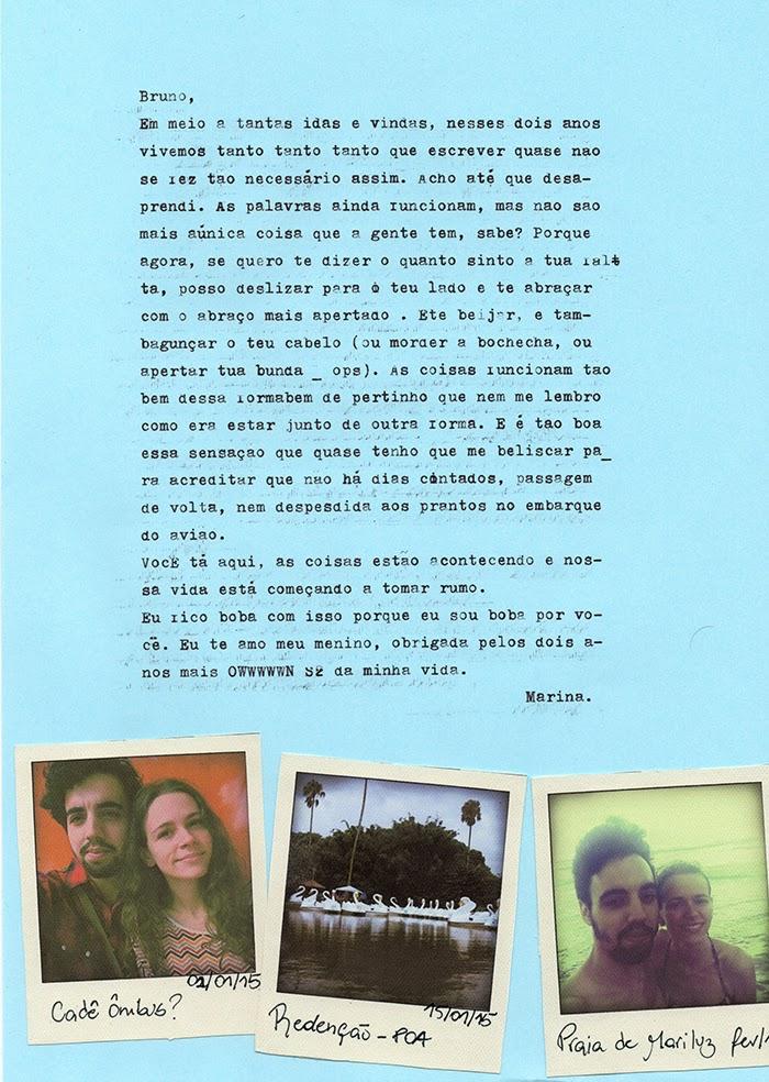carta para namorado