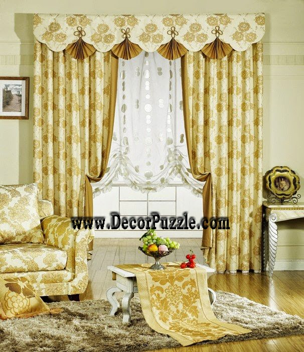 Top 20 luxury classic curtains and drapes designs 2018 for Flowery curtains design