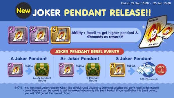 Trik Cara Mendapatkan Pendant Joker S atau 200 Diamond Get Rich Gratis