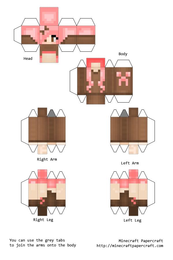 MineCraft PaperCraft Guide Papercraft Skins