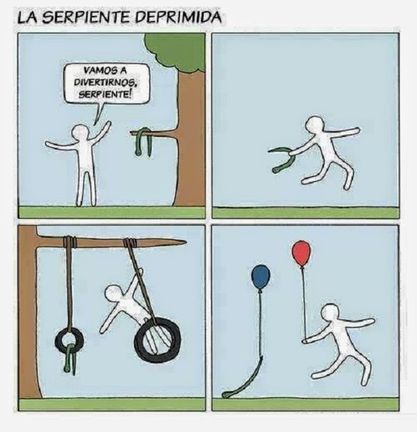 Serpiente deprimida