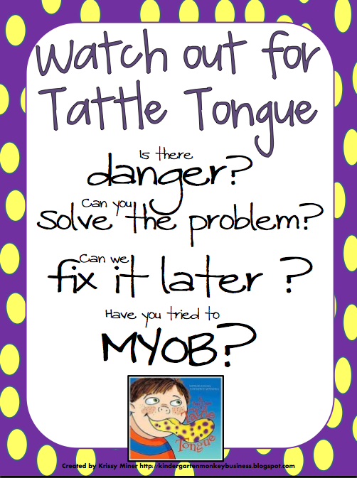Ms. Sepp\'s Counselor Corner: Tattle Tongue Strikes Again!