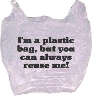 Robs World: REPOST: Ideas for recycling/reusing plastic shopping bags!