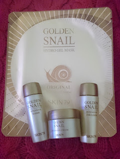Golden Snail - minaiture set & hydro gel mask oryginal SKIN79