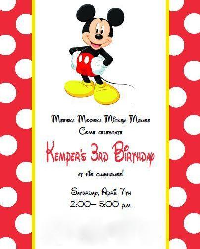 Lone star family mickey mouse birthday mickey mouse birthday kempers 3rd birthday filmwisefo Gallery