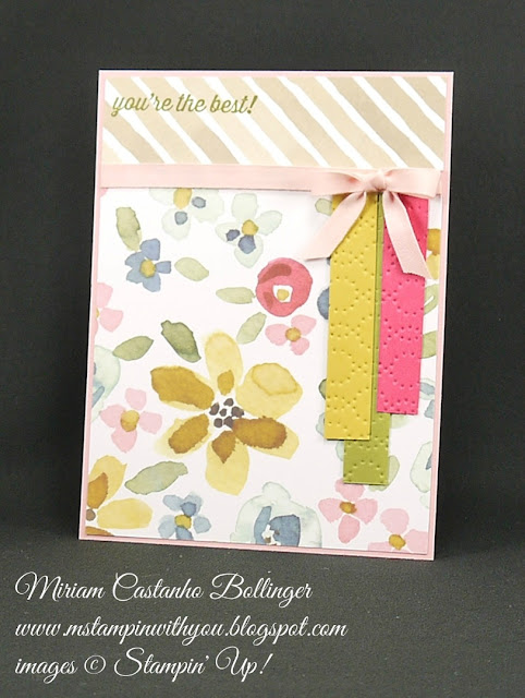Miriam Castanho-Bollinger, #mstampinwithyou, stampin up, demonstrator, dsc, all occasions card, english garden dsp, elegant dots tief, texture boutique machine, su