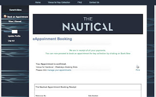 E-booking for handover slots for The Nautical