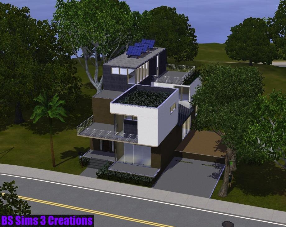 Bs sims 3 creations casa moderna 2 ecohome Casas modernas sims 4 paso a paso
