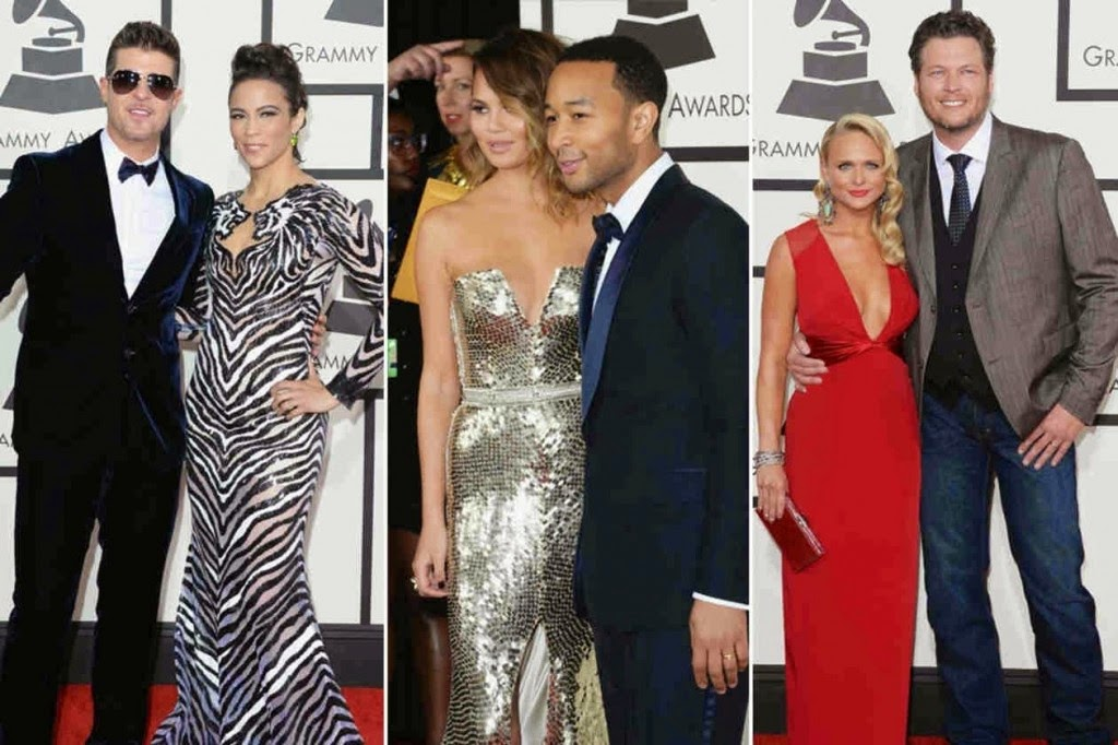 Top 3 Hottest Couples hairstyles at The Grammy's 2014