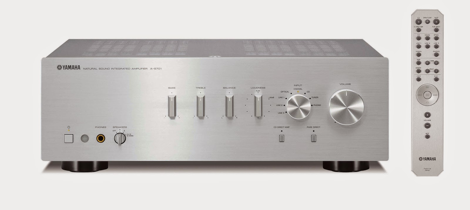 Mono and stereo high end audio magazine yamaha a s701 for Yamaha integrated amplifier review