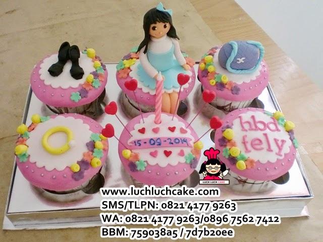 Cupcake Tema Fashion Daerah Surabaya - Sidoarjo
