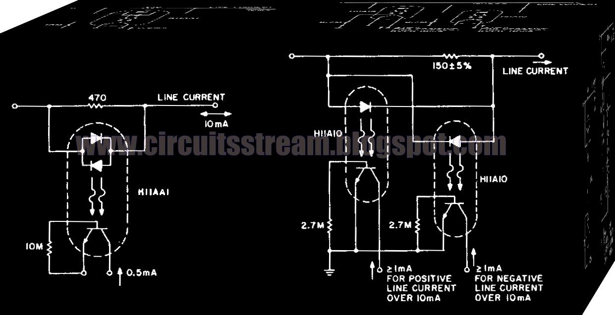 Electronic Line Current Detector Circuit Diagram