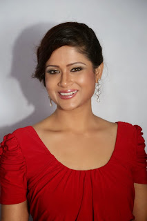 Shilpa Chakravarthy looks cute in Red gown at Billa Ranga Audio Launch