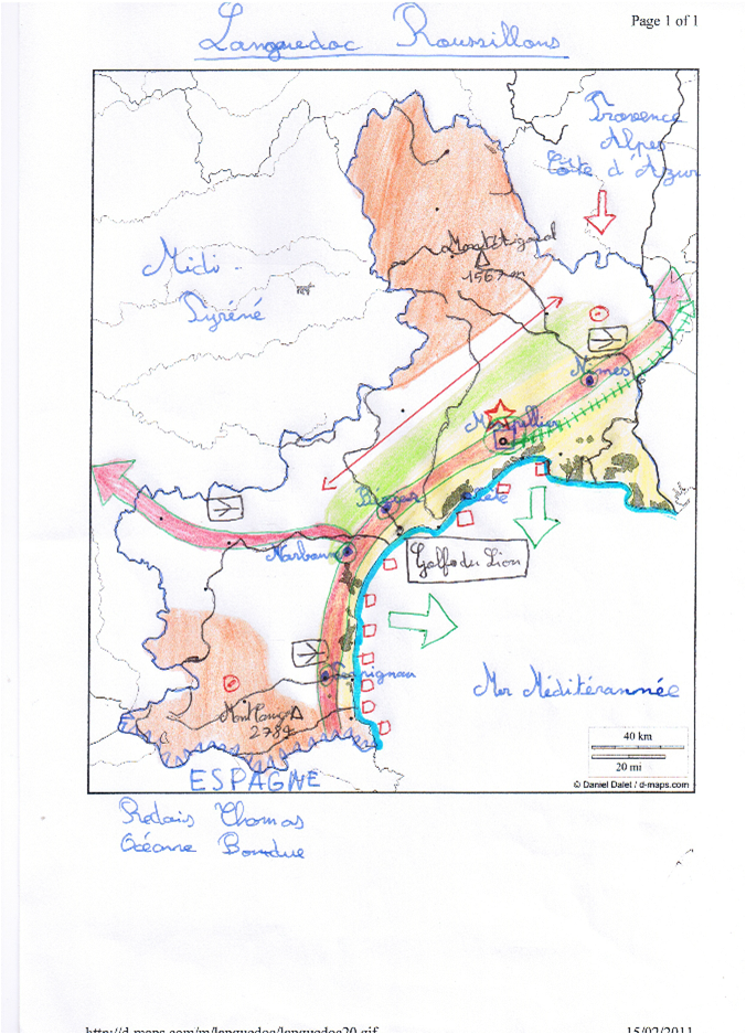 Carte Languedoc Roussillon.Concours Carto 4eme Cartes Languedoc Roussillon