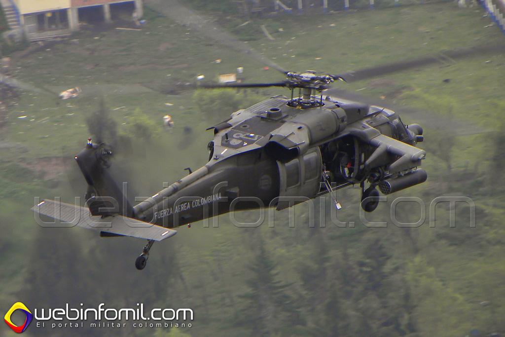Helicópteros Arpía con sus modernos sistemas electrónicos vigilarán las vías y puntos álgidos de los departamentos de Antioquia y Chocó.