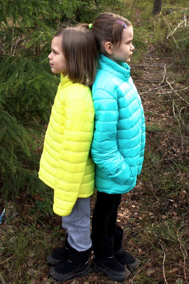 Kids with colorful jackets