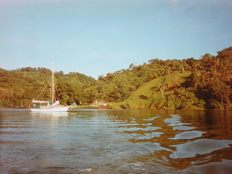 Anchored off Portobelo