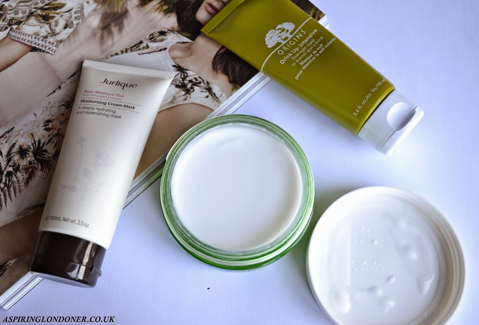 Luxury Hydrating Face Masks Review ft Origins, Jurlique, The Body Shop - Aspiring Londoner