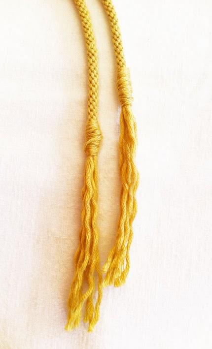 Come chiudere la corda kumihimo