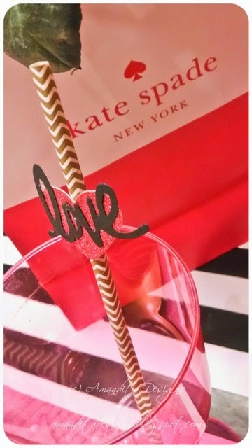 The glass cylinder vases (inside Kate Spade gift bag) were from the Dollar Store. & Kate Spade Inspired Valentineu0027s Day Party | Amandita Designs