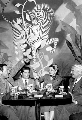 Zebra room diners 1940s