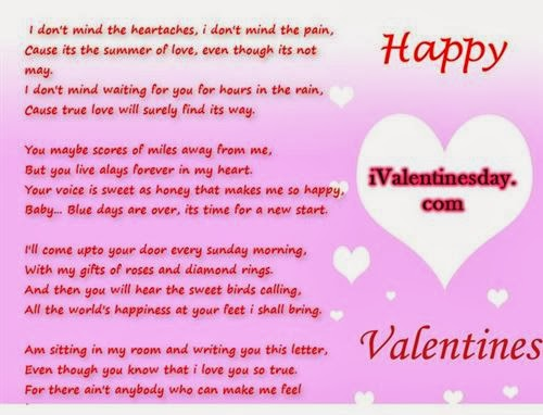 Romantic Short Valentine's Day Poems 2014