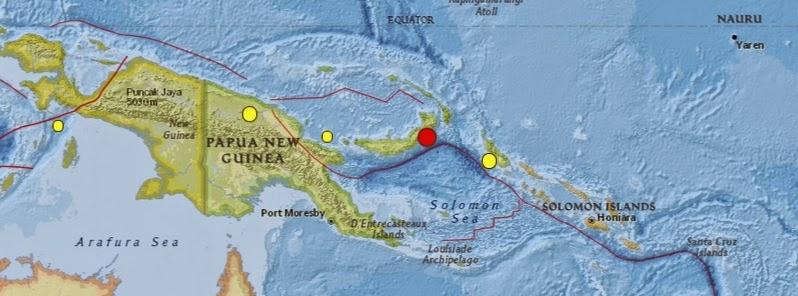 SISMO 6,8 GRADOS EN PAPUA NUEVA GUINEA