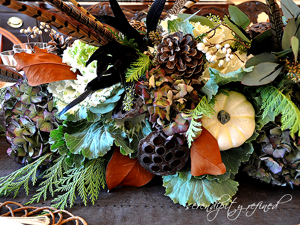 Thanksgiving decoration outdoor - Thanksgiving Table Decor Recycling Outdoor Plants