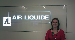 Intern Nicole Aquais at Air Liquide.