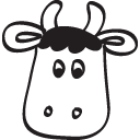 Cute RTM cow favicon in action