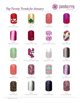 top 20 nail art trends for january 2013 from Jamberry Nails Noel Giger, Independent Star Consultant