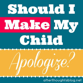 should I make my child apologize?