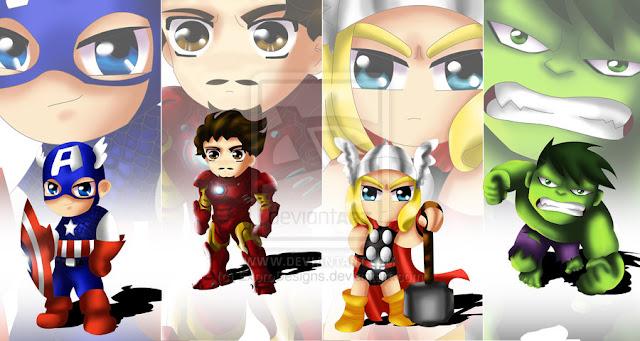 Avengers Chibi por ExoroDesigns