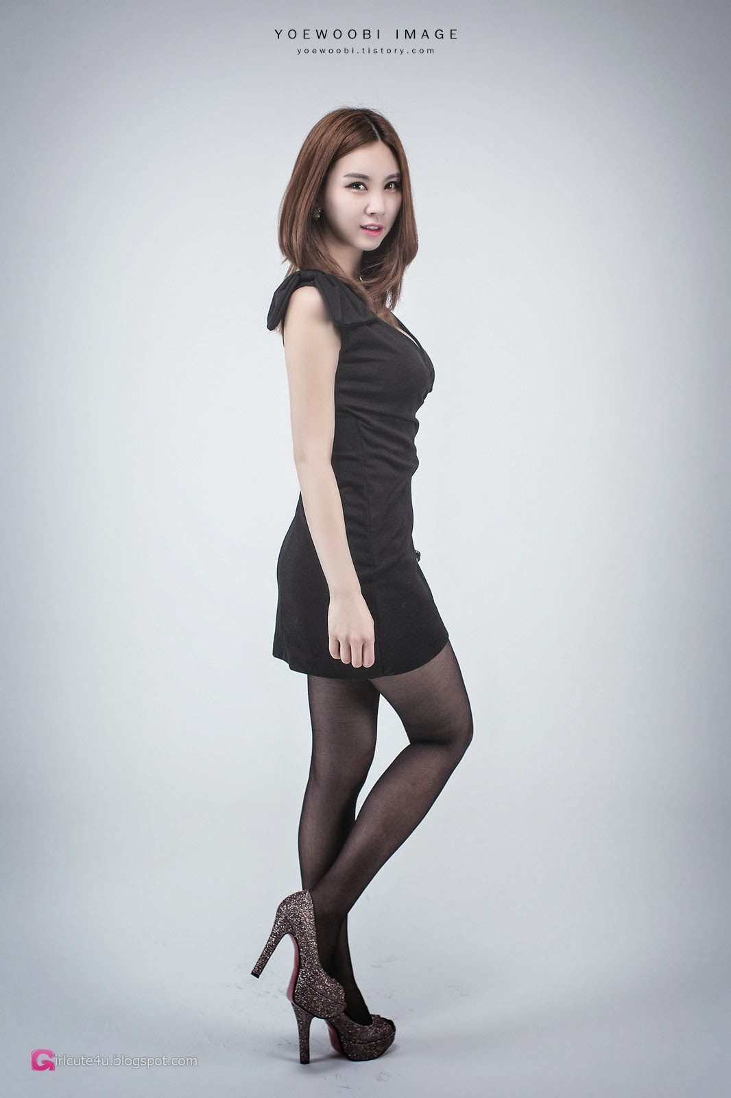 1 Lee Eun Yu - Little Black Dress - very cute asian girl-girlcute4u.blogspot.com
