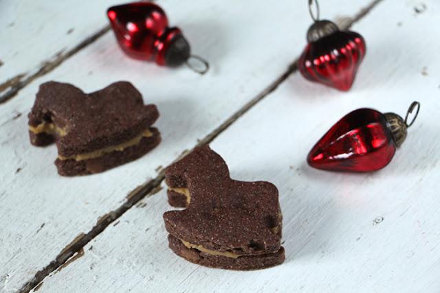 Schoko-Schaukelpferde mit Erdnussbutter-Karamell-Füllung
