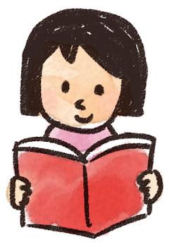 読書をしている女の子のイラスト