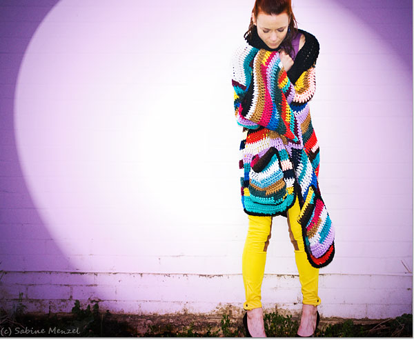 Psynopsis Vintage Crochet Coat by Vintage Vixen Ralph Lauren Trousers
