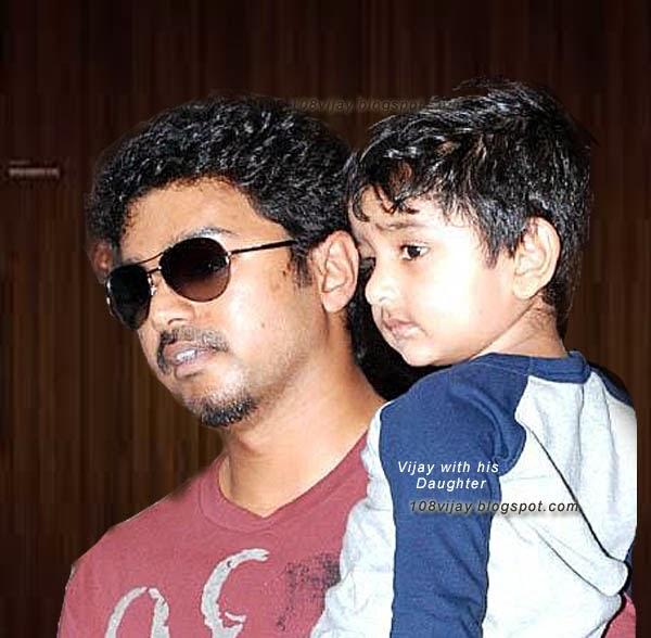Actor Vijay Son And Daughter Photos Tamil actor vijay daughter