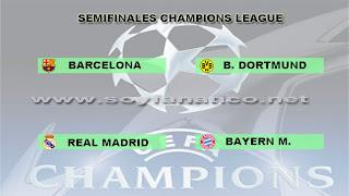 Clasificados a las Semifinales de la Champions 2013