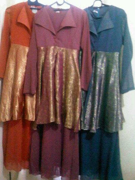 Omg Baju Muslim Gamis Model Songket Dar Coy Butik