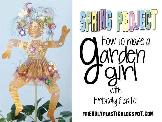 spring crafts with friendly plastic by Jana Ewy