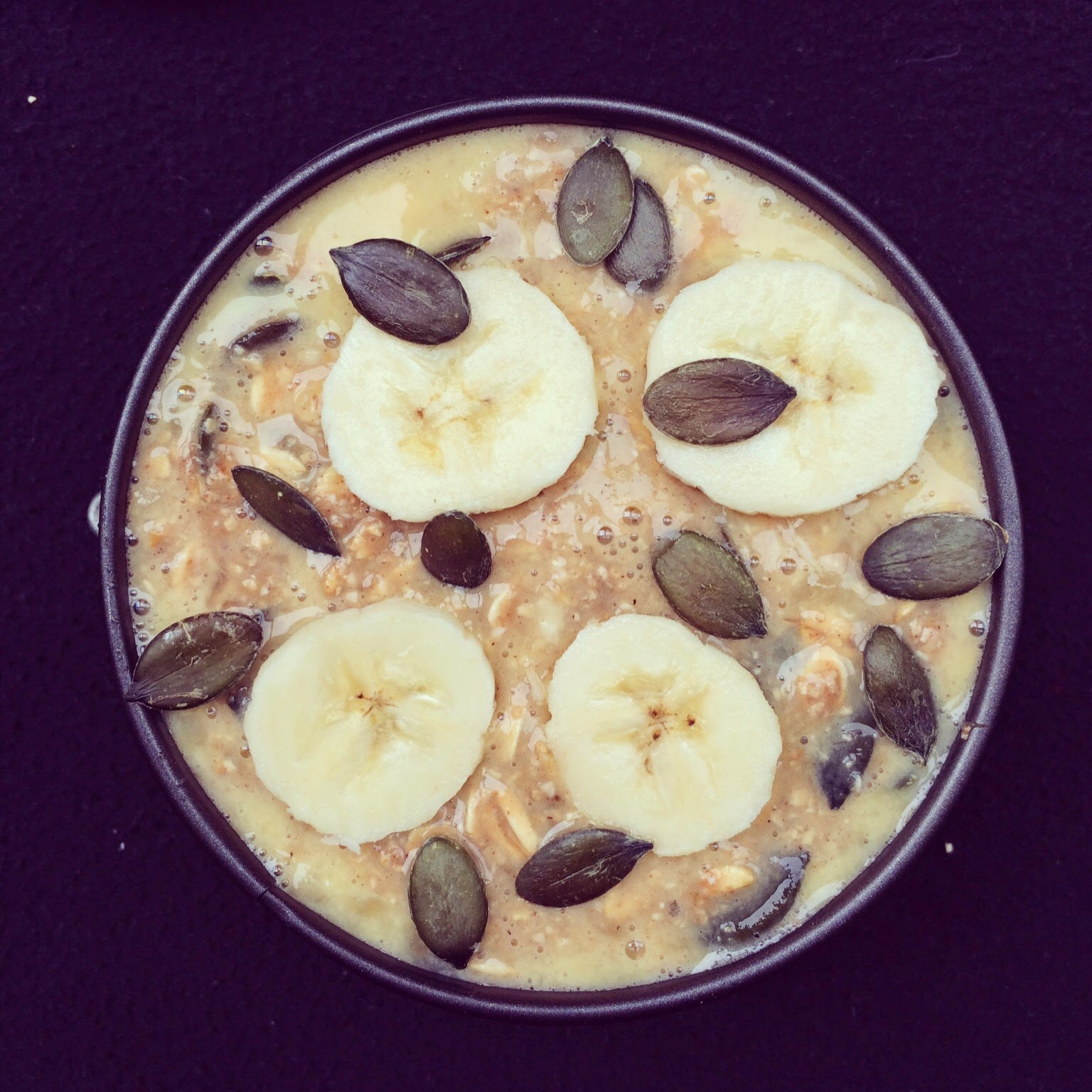 porridge four banane graine de courge